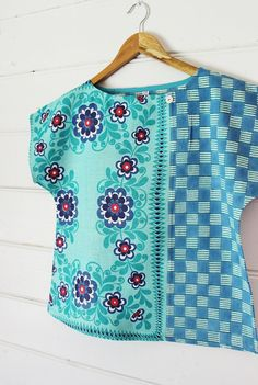 Upcycled Womens Shirt Top Blouse Petite Vintage by apieceofpie