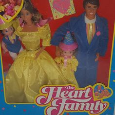 Mattel The heart Family Dolls Surprise Party Set new in box vintage 1980's #Mattel