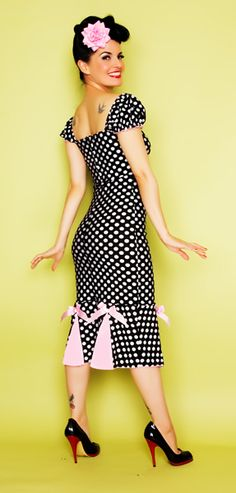 #polkadots $98 - for serious? Less than a hundred bucks for divine adorable? Love the length on this! Polka Dots are forever!