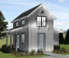 Teeny tiny house plan 62571DJ with loft. Whole house under 400 square feet