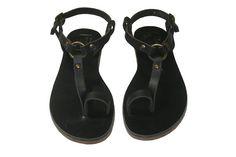 Black Leather Sandals - WalkaholicS on etsy