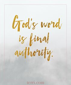 God's word is final authority! For more weekly podcast, motivational quotes and biblical, faith teachings as well as success tips, follow Terri Savelle Foy on Pinterest, Instagram, Facebook, Youtube or Twitter! *** Watch a short 8 minute FREE clip on WHAT GREAT LEADERS REALLY DO by clicking on this pin***