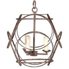 This unique design touch is emphasized in the mesmerizing geometric pattern on the Ellis chandelier. Rustic black finished iron encompasses the three candle like bulbs at the center of this exceptional lighting accent. Ring Chandelier, Coastal Chandelier, Industrial Chandelier, Kitchen Chandelier, Chandelier In Living Room, 3 Light Chandelier, Kitchen Pendants, Modern Chandelier, Eclectic Chandeliers