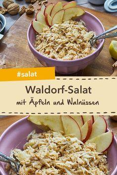 Köstlicher Waldorf-Salat - New Ideas Waldorf Salat, Cooking Recipes, Healthy Recipes, Food Tasting, Yams, Carpe Diem, Food And Drink, Low Carb, Vegan