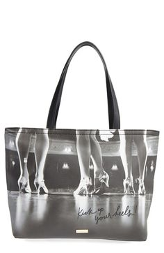 Free shipping and returns on kate spade new york kick up your heels francis tote at Nordstrom.com. All the world's your stage with this standout tote featuring vintage graphics and a glittering quote that channels kate spade's playful, carefree outlook.