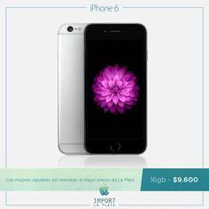 La Plata, el mejor lugar del mundo, ahora también tiene los mejores celulares al mejor precio!!!  HOY llevate un iPhone 6 de 16 GB a solo $9.600!!  Garantía escrita / Se retira por nuestra oficina comercial en La Plata / Consultas por INBOX o Whatsapp 022-136-14436  iPhone 5s 16 4g $8.800 iPhone 5s 16 3g $7.500 iPhone se 16 sin caja $9.600 iPhone se 16 $10.700 iPhone 6 16 $11.700 iPhone 6 64 $13.200 iPhone 6 128 $14.500 iPhone 6s 16 $13.500 iPhone 6s 64 $15.400 iPhone 6s 128 $17.100 iPhone 6…