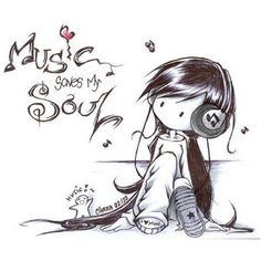 Manga Graphics and Animated Gifs Kinds Of Music, Music Love, Music Is Life, My Music, Soul Music, Music Wall, Art Emo, Emo Kunst, Chibi