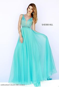 Sherri Hill Prom Dress 32150 - Flowing chiffon gown by the amazing Sherri Hill