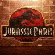 Jurassic Park perler beads by miskatonicrich
