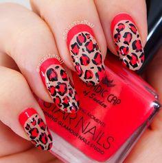 Ruffian leopard nail art by @Erin Duncan Ritchey on instagram