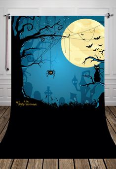Hollaween photo backgrounds for studio kids printed with giant moon and dark night Art fabric backdrops D-6904. Yesterday's price: US $16.00 (14.03 EUR). Today's price: US $10.56 (9.29 EUR). Discount: 34%.