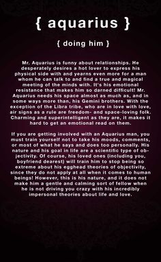 How to attract aquarius male