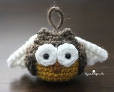 Angel Owl - FREE crochet pattern on Repeat Crafter Me!