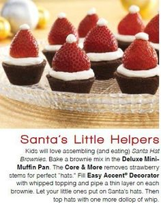 Quick, Cute, Delicious.  These are easy to make with The Pampered Chef Mini Muffin Pan and Easy Accent Decorator. $17.00