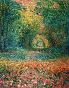 Monet. The Undergrowth in the Forest of Saint-Germain