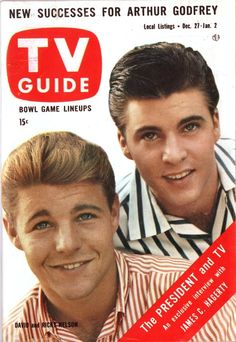 TV Guide, Dec. 27, 1959 — David & Ricky Nelson in The Adventures of Ozzie and Harriet (original vintage document color corrected).