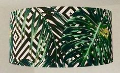 Palm Leaves, Tropicana Fabric and Geometric Background Lampshade