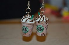 Scented Mocha Frappuccino earrings by BruberryNuggetCrafts on Etsy #Starbucks #jewelry