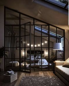 Loft Interior Design, Dream House Interior, Luxury Homes Dream Houses, Dream Home Design, Interior Design Inspiration, House Design, Bedroom Inspiration, Loft Design, Interior Designing