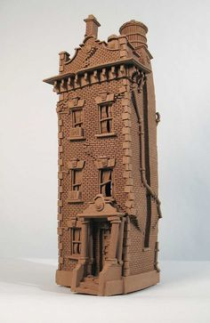 Brick Row House - Buildings - Gallery - John Brickels, Architectural Sculpture and Claymobiles, Essex Jct, Vermont