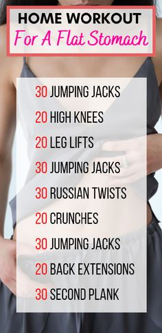 Home Workout For A Flat Stomach