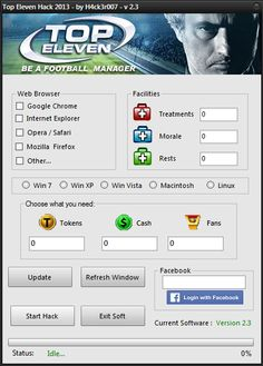 Top Eleven Hack Tool Cheat Android iOS Free No Survey Free