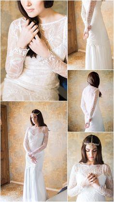 Long Sleeve Wedding Dress from Marisol Aparicio