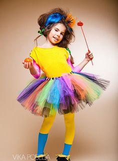 """Одежда для девочек, ручной работы. Ярмарка Мастеров - ручная работа """"Веселая карусель"""" пышная юбка-пачка из фатина. Handmade."""