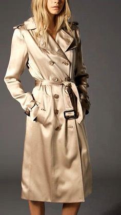 burberry trench coat outlet ozz5  SILK SATIN TRENCH COAT
