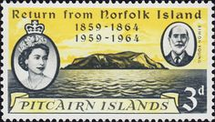 Stamp: Simon Young and Pitcairn Island (Pitcairn Islands) (Centenary of Return from Norfolk Island Mi:PN 29 Mutiny On The Bounty, Norfolk Island, Pitcairn Islands, Commonwealth, Postage Stamps, Empire, British, Stamps, England