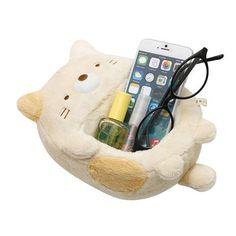 Sumikkogurashi shy cat plush cellphone item holder storage box 2