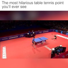 The most hilarious table tennis point you'll ever see
