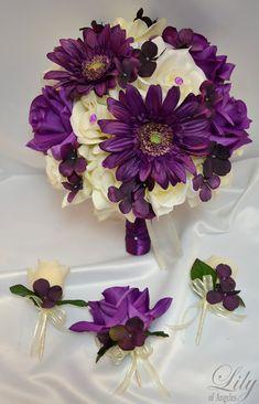 17pcs Wedding Bridal Bouquet Package Decoration by LilyOfAngeles, $209.99