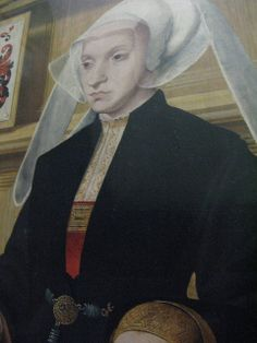 Barthel Bruyn the elder, Philipp von Gail, merchant of Cologne, and five of his sons, Katharina von Gail and her two daughters, Louvre, Paris (detail)