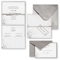 Brides Wedding Collection Silver And White Pocket Diy Invitation Kit