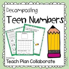 "FREEBIE teen number decomposing activity can be used as a center or during small group instruction. This file includes: * Ten frame recording sheet * ""I can. Teen Numbers, Math Numbers, Math Resources, Math Activities, 1st Grade Math, Grade 1, 2 Kind, Numbers Kindergarten, Daily Math"