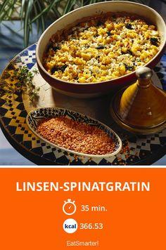 Linsen-Spinatgratin - smarter - Kalorien: 366.53 Kcal - Zeit: 35 Min. | eatsmarter.de