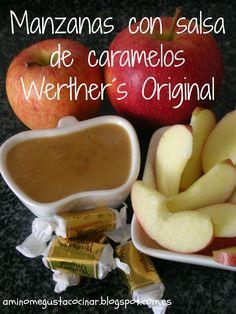 A mí no me gusta cocinar: Manzanas con salsa de caramelos Werther´s Original...