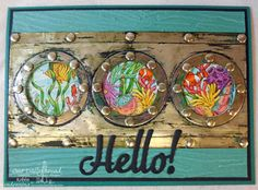ODBDSLC255 Our Daily Bread Designs Stamp set: Deep Waters, Our Daily Bread Designs Custom Dies:Hello