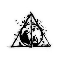 Shop The brothers harry potter t-shirts designed by FanFreak as well as other harry potter merchandise at TeePublic. Tatto Harry Potter, Arte Do Harry Potter, Images Harry Potter, Harry Potter Deathly Hallows, Harry Potter Drawings, Harry Potter Anime, Harry Potter Fandom, Deathly Hallows Tattoo, Harry Tattoos