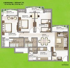 3 BHK Flats & Apartments for Sell at Sector-168, Noida for Resale, Park Facing.