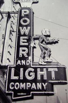 1920s Utah Power & Light sign
