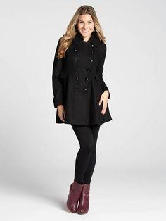 Trench Coat with Polka Dot Lining - Suzy Shier | Blazers ...