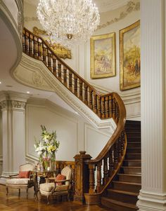 design magazine cotai luxury design hotel design fargo design bedroom design tailors design inc design porter home luxury design Grand Staircase, Staircase Design, Double Staircase, Wood Staircase, Stair Design, Home Luxury, Luxury Homes, Elle Decor, Grande Cage D'escalier
