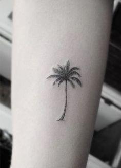palm tree tattoo = the Carribean, tropical islands by SAburns