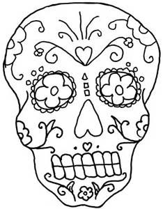 day of the dead coloring pages of skulls  Adult Coloring Pages