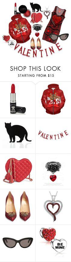 Be My Valentine by rhondakolander on Polyvore featuring Christian Louboutin, Bling Jewelry, BillyTheTree, Balenciaga, Manic Panic NYC, 157+173 designers and Concrete Minerals