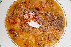 Sauerkrautsuppe mit Hackfleisch, ein sehr leckeres Rezept aus der Kategorie Eintopf. Bewertungen: 11. Durchschnitt: Ø 3,8.