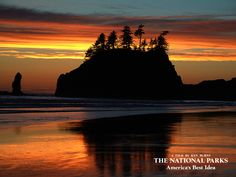 Rich sunset over the Pacific at Olympic National Park. Explore more of our nation's parks with Ken Burns.  (photo: Craig Mellish, Florentine Films)
