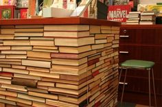 decor with books...look Emily...its your night stands!